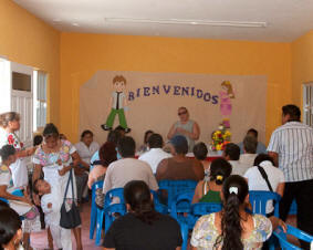 Help the Maya Children Volunteer Social Work sponsored by Hacienda Chichen Resort and Maya Foundation In Laakeech