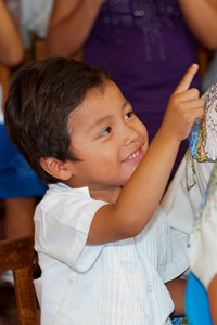 Maya Children at the Maya Foundation In Laakeech Child Care Center in Xcalacoop, Yucatan