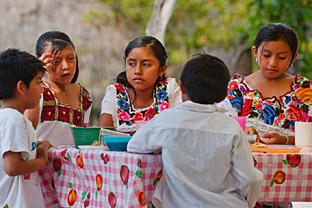 Mayan Children at our Nutrition Day Luncheon, sponsored by Hacienda Chichen Resort, Chichen Itza, Yucatan, Mexico