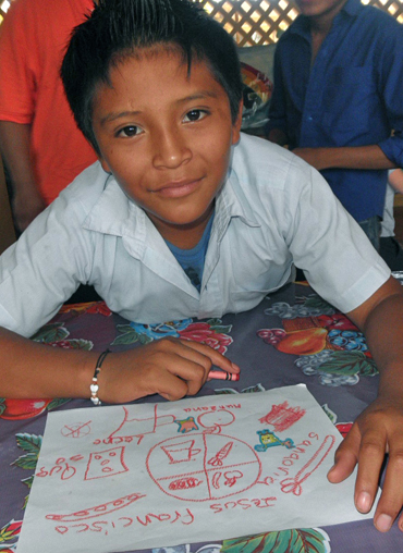 Nutrition and Healthy food workshop for Maya children in Yucatan