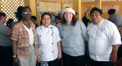 Maya Foundation In Lakech volunteers sponsors of a Nutrition Lunch Party with Chef Josue Cime