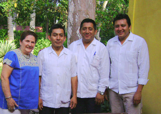 Maya Foundation In Laakeech Volunteer Team at Chichen Itza's top Green hotel.