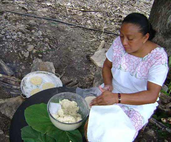 Mayan tortilla making