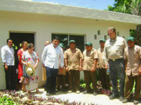 New Xcalacoop Health Center donated by Maya Foundation In Laakeech, Yucatan, Mexico
