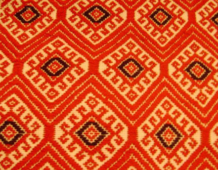 Mayan textile motifs evoke Colonial and Prehispanic designs