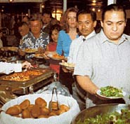 Avoid eating at Buffet style lunches in Chichen Itza or any other area you visit in Yucatan. Climate, flying insects, heavy frying oils, and other food hazards may cause you a stomach flu or digestive problems.