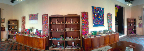 Fine Maya art-crafts, textiles, weaves, replicas, pottery, and jewelry sold at Toh Boutique Cinco Calles and Hacienda Chichen, Yucatan, Mexico