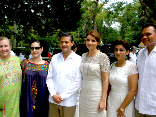 Chichen Itza Exclusive Catering Services: Mexico's President visiting Hacienda Chichen Resort, Chichen Itza, Yucatan