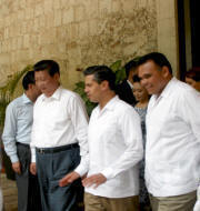 Chichen Itza: Chinese and Mexican Presidents official visit June 2013, celebrating a private gala at Hacienda Chichen Resort