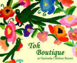 Toh Boutique located in Chichen Itza, Yucatan, Mexico offers the finest collection of Mayan arts, jewelry, textiles, and fine ceramics.