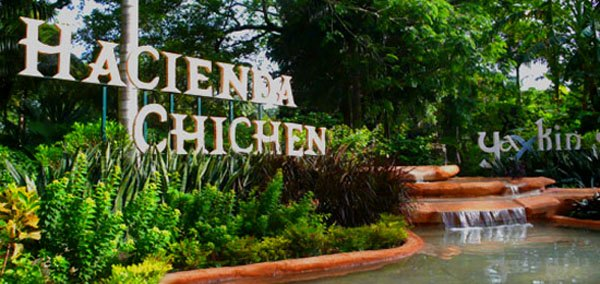 Hacienda Chichen and Yaxkin Spa road entrance, visit us for a great gourmet organic meal.